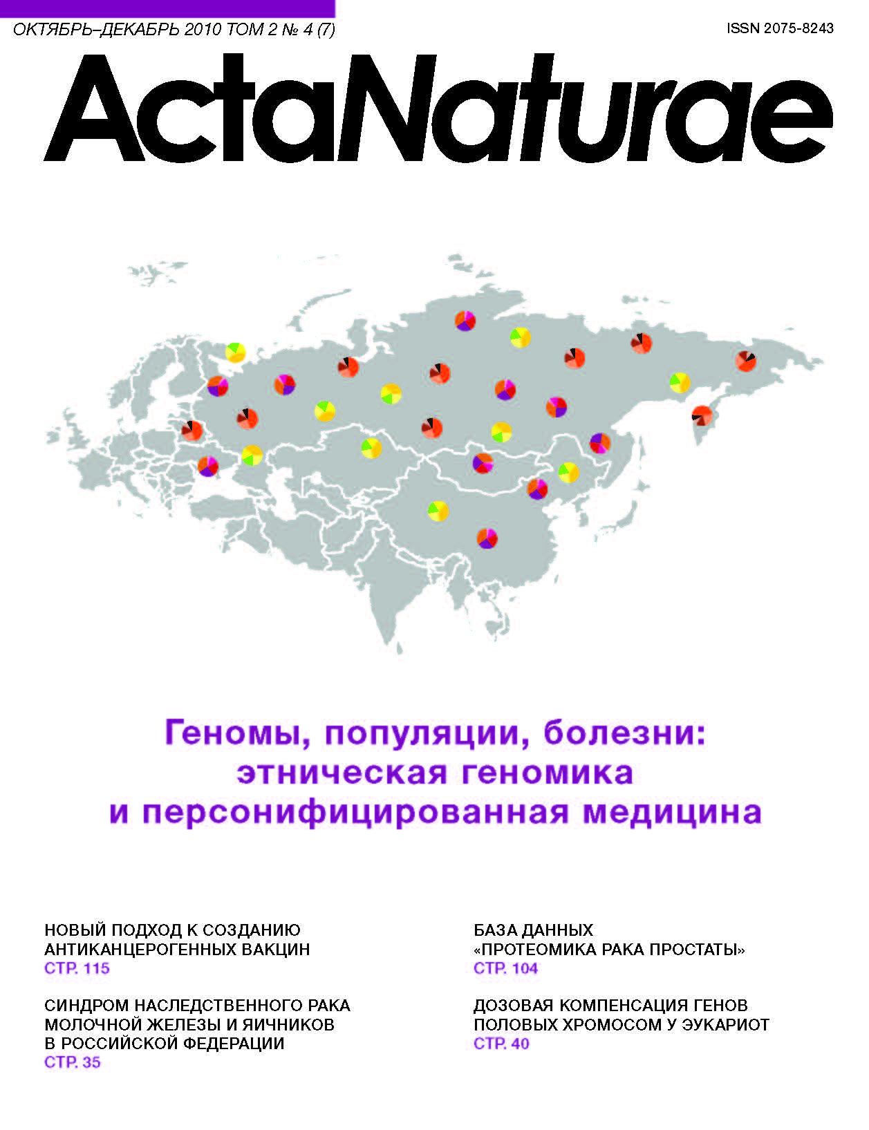 Hereditary Breast Ovarian Cancer Syndrome In Russia Sokolenko Acta Naturae